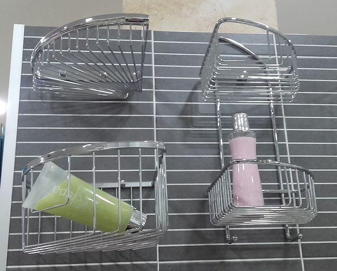 Muestrario de estanterías para baños