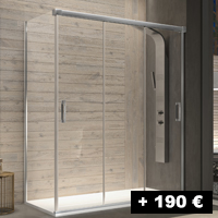 3 puertas correderas 96 a 160 cm con entrada por ambos lados