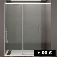 1 cristal fijo + 1 puertas corredera free sin perfil de cierre 95 a 200 cm