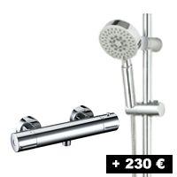 Grifo termostático + Barra de ducha